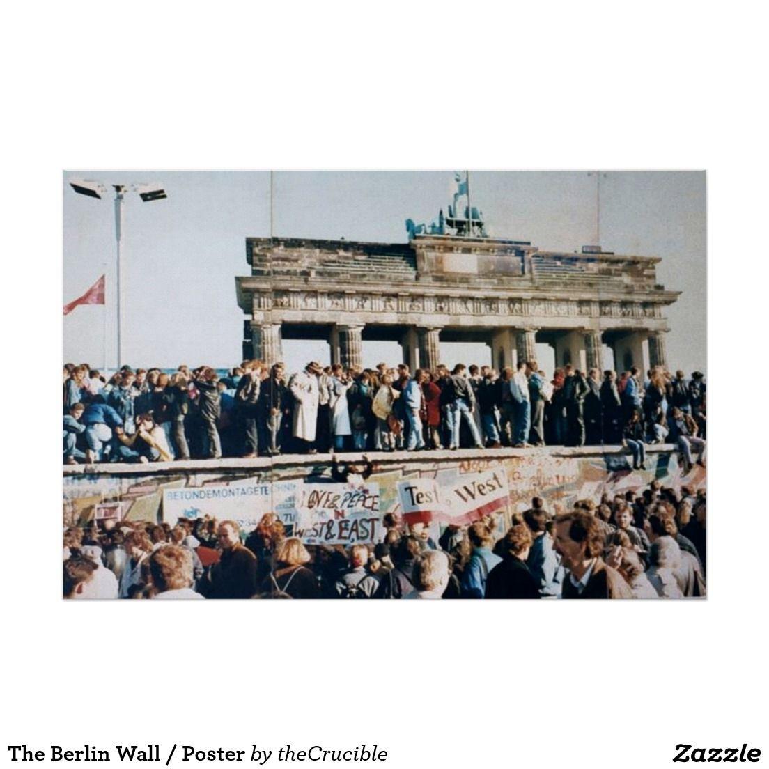 El muro de Berlín/el poster