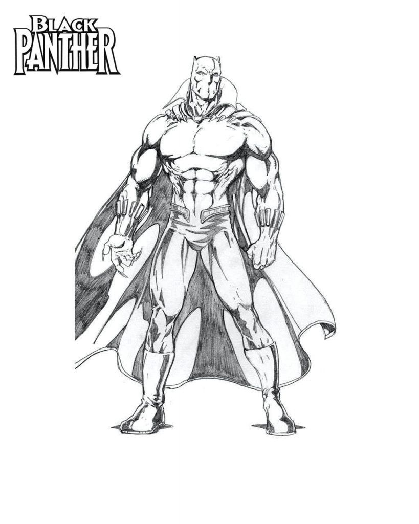 Black Panther Coloring Pages Best Coloring Pages For Kids Black Panther Coloring Pages Black Panther Coloring Black Panther Drawing