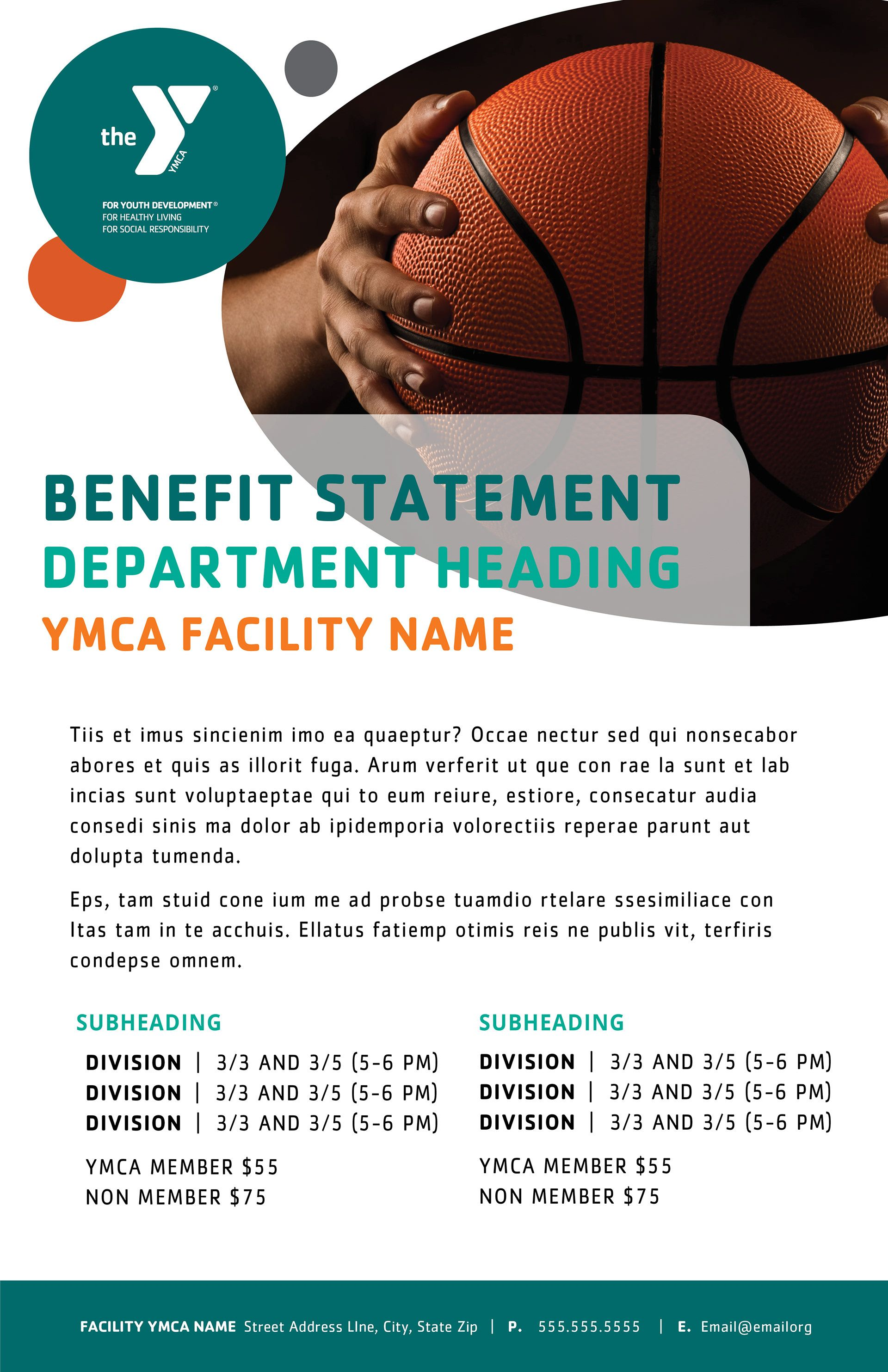 Layout Concept Ymcas Offer A Wide Range Of Programs Basketball Youthdevelopment Youthsports Ymca Healthyliving Fitness Ymca Marketing Poster Portfolio