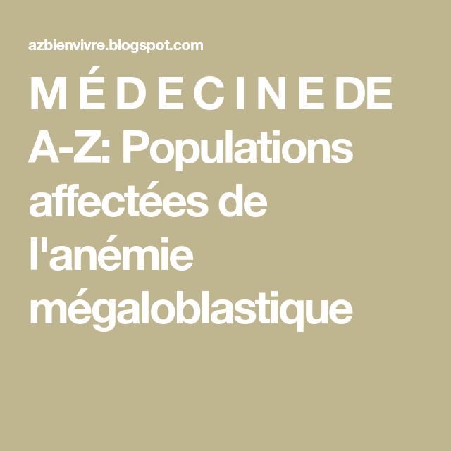 L anemie megaloblastique - parohiamogosani.ro