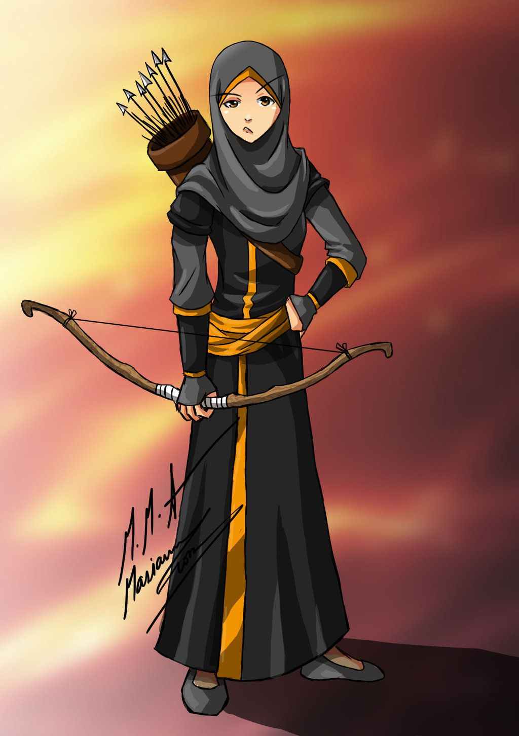 muslimah archer D by on