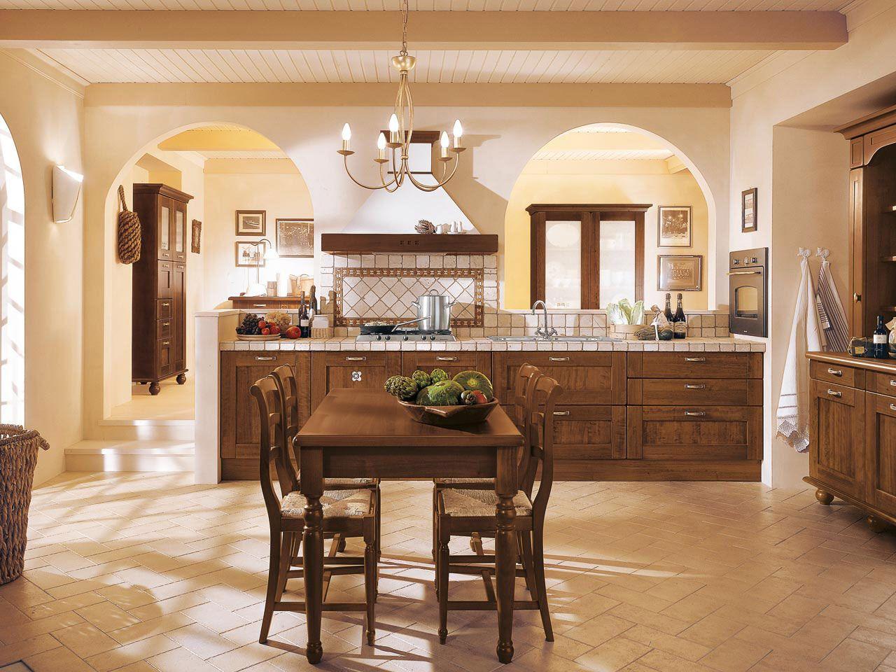 Kitchen with arch ways   Classic kitchen design, Italian ...