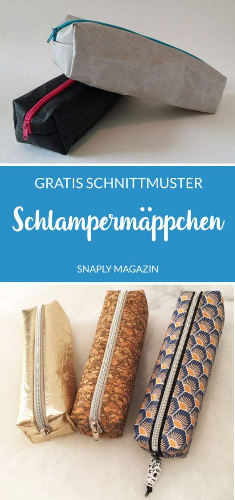 Einfaches Schlampermäppchen aus SnapPap nähen - gratis Schnittmuster | Snaply-Magazin