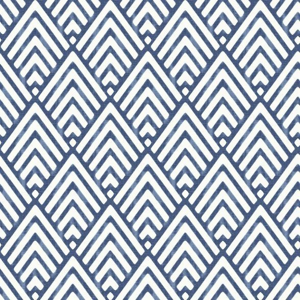Brewster Arrowhead Peel & Stick Wallpaper Dark Blue (With