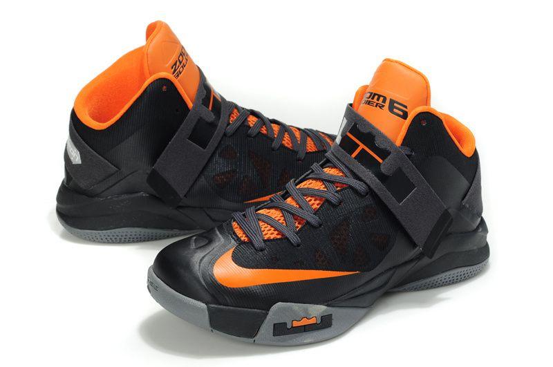 sports shoes 490d1 47b2f Nike Zoom Zoom LeBron Soldier 6(VI) Black Orange Gray