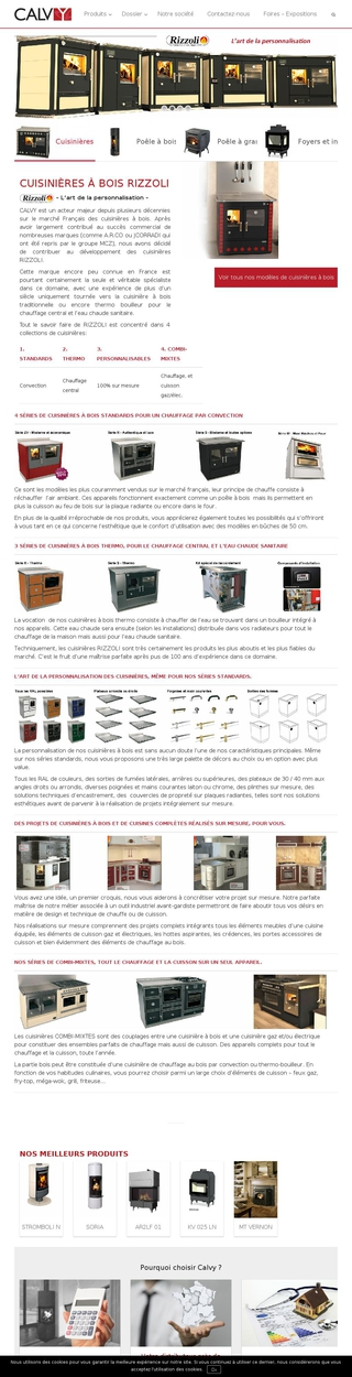 Calvy    Spécialiste des cuisinières à bois, des poêles à bois et des foyers/inserts de cheminées - Candé-sur-Beuvron, Loir-et-Cher, Centre