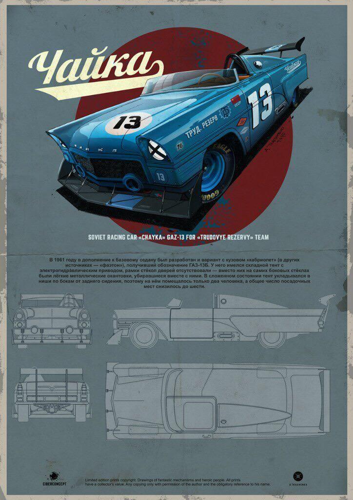 Tkachenko andrey on illustration car pinterest printing cars chayka gaz 13 print and blueprint malvernweather Gallery