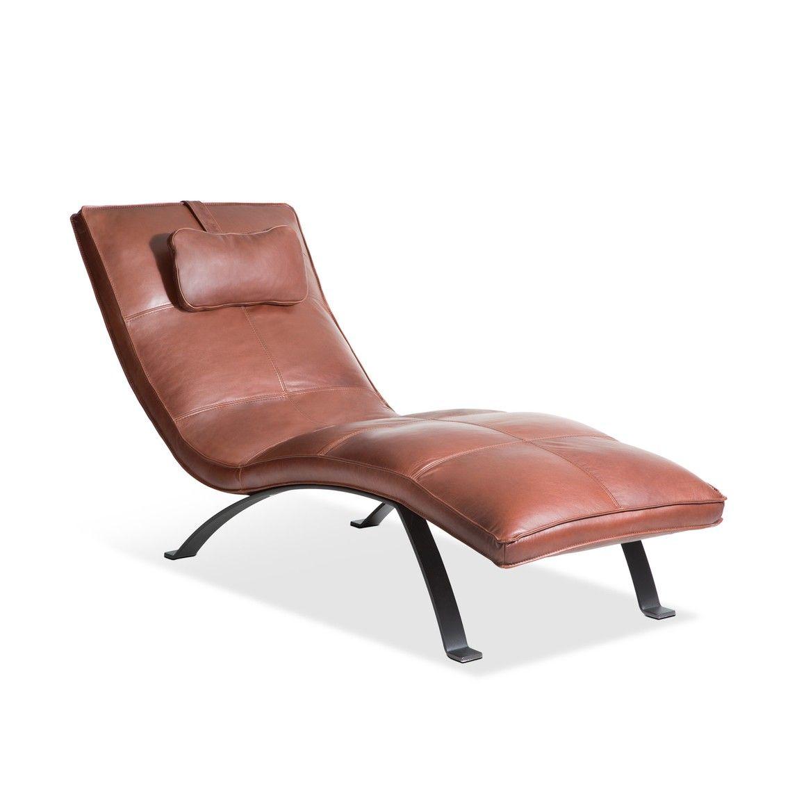 relaxliege braun aus anilinleder lio braun pulverbeschichtet 14897900 0 - Relaxliege Wohnzimmer Braun