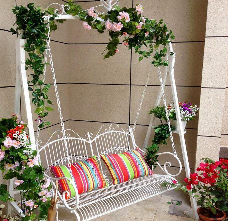 Design Gartenmobel Schaukel Fur Romantische Stimmung Garten