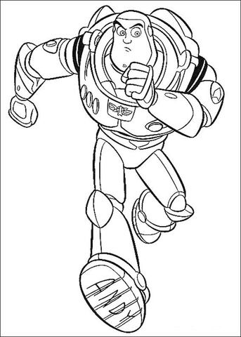 Buzz Is Running Coloring page Toy Story Pinterest Printable - new coloring book pages toy story