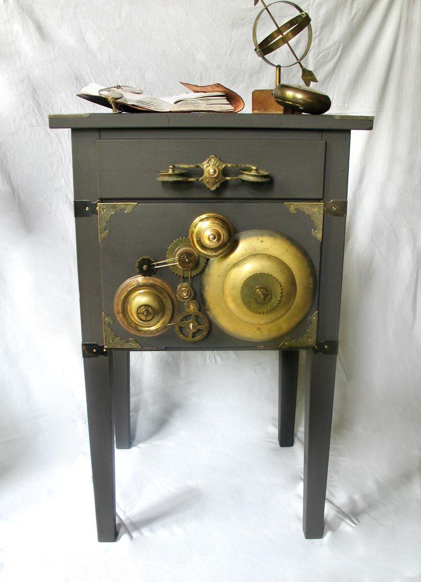 """Le Rouge et Noir: Stunning Steampunk styled and re-designed or hacked Ikea Cabinet """"Thomas Edison"""". http://de.dawanda.com/shop/Le-Rouge-et-Noir https://www.etsy.com/de/shop/LeRougeetNoir https://www.homify.de/projekte/83363/vorher-nachher"""