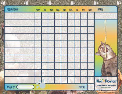 Cat Theme Printable Behavior Chart For Kids  Just For Moms  Kid