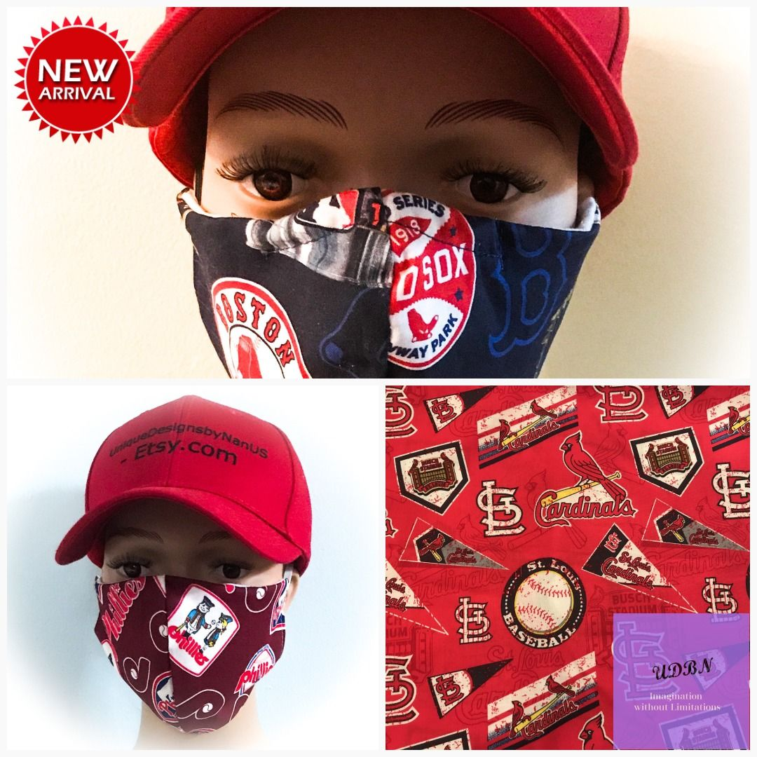 Yankees Mask Boston Redsox Mask Phillies Mask Protective Mask St Louis Cardinals Mask Yankees Mask New York Yanke In 2020 Quality Fabric Hand Sewing Etsy Gift Card
