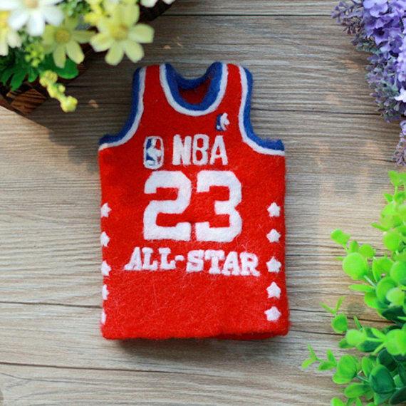 save off c62e9 df737 NBA All Star 23 Michael Jordan Basketball Needle Felting ...