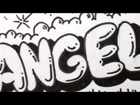 How To Draw ANGEL In Graffiti Writing
