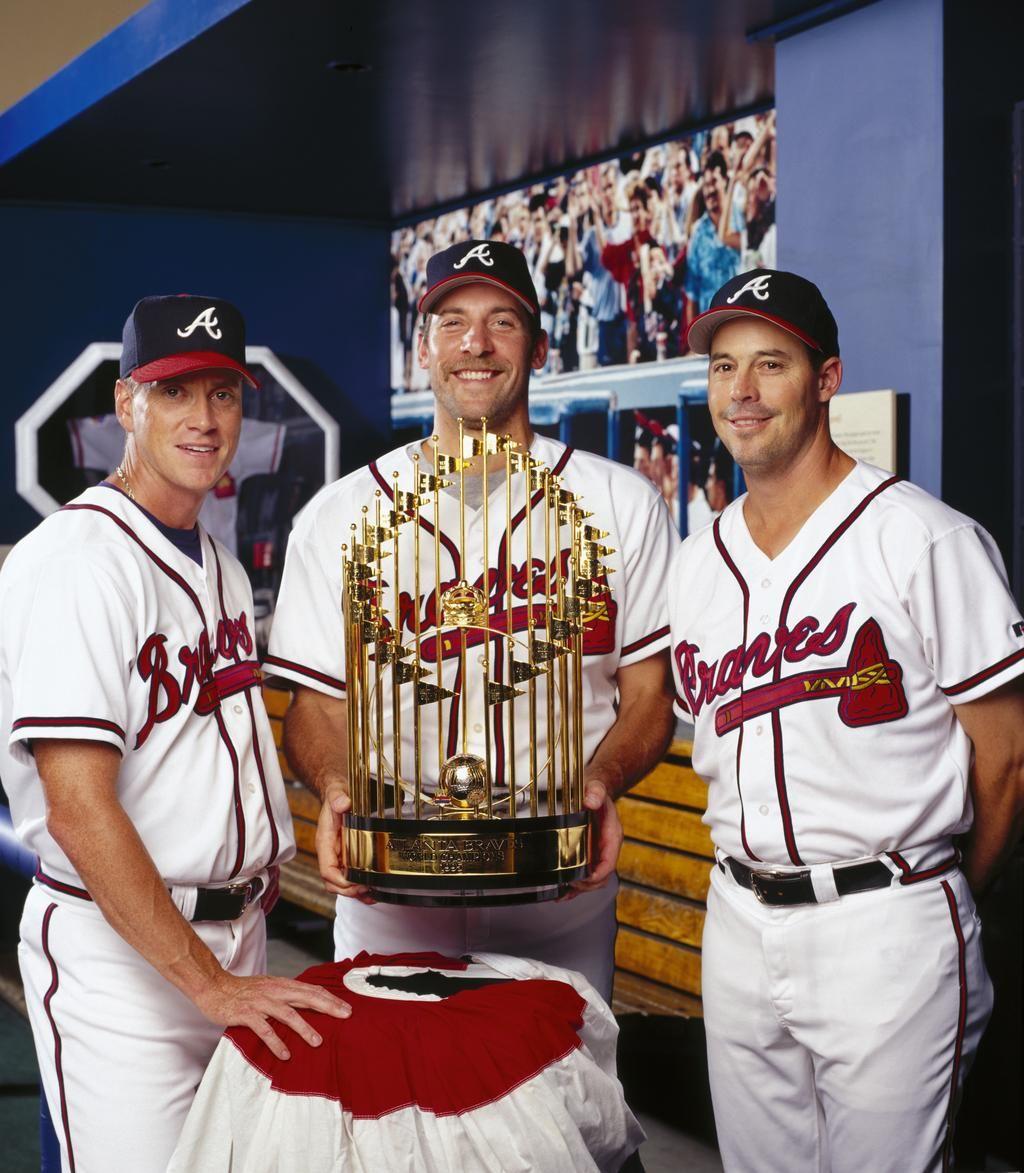 Glavine Smoltz And Maddux Atlanta Braves Baseball Braves Baseball Atlanta Braves Wallpaper