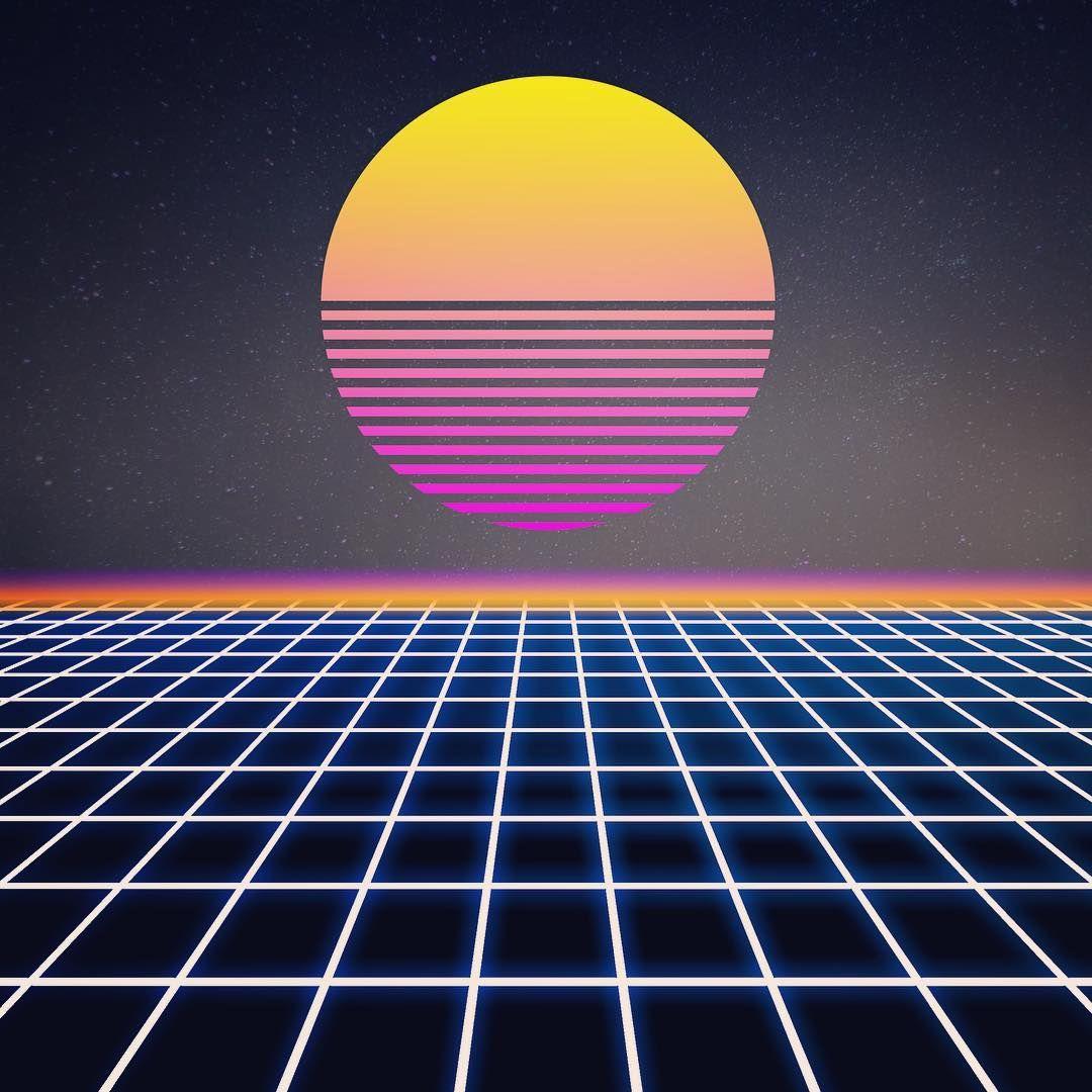 80s Vibes Retro Background Retro Art Retro Futurism
