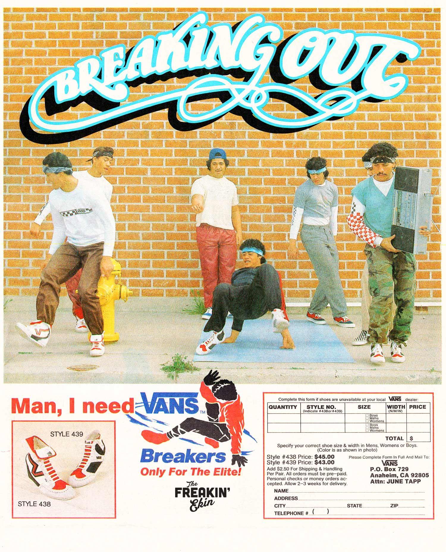 1309761a6fa6f8 Vans Breaking Out vintage sneaker ad   The Freakin  Ekin