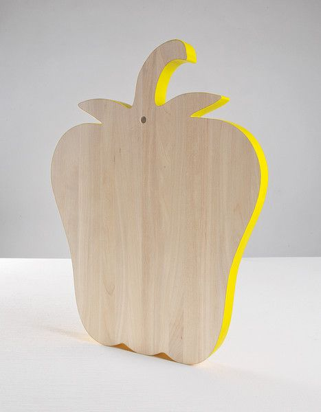 Vegetable Cutting Board Pepper is part of Wooden Home Accessories Cutting Boards - DESCRIPTION Brig vegetables to the table, even when out of season, with a collection of cutting boards  Alessandra has taken the simple design of various vegetables to give common kitchen utensils a naturalistic narrative  Bring color to your daily routine  DETAILS & DIMENSIONS  Design by Alessandra Baldereschi  Material Birch Wood  Dimensions 16 5  x 13  x 1 1  >> CLICK HERE to See All 4 Vegetable Chopping Boards