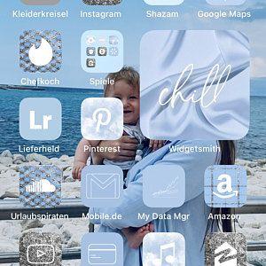 100+ iOS 14 App Icons Sky Blue   100+ Custom your