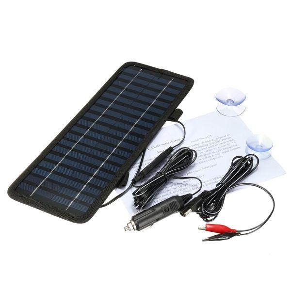 Scm Solar 3 5w 12v portable mono solar panel battery power charger for car