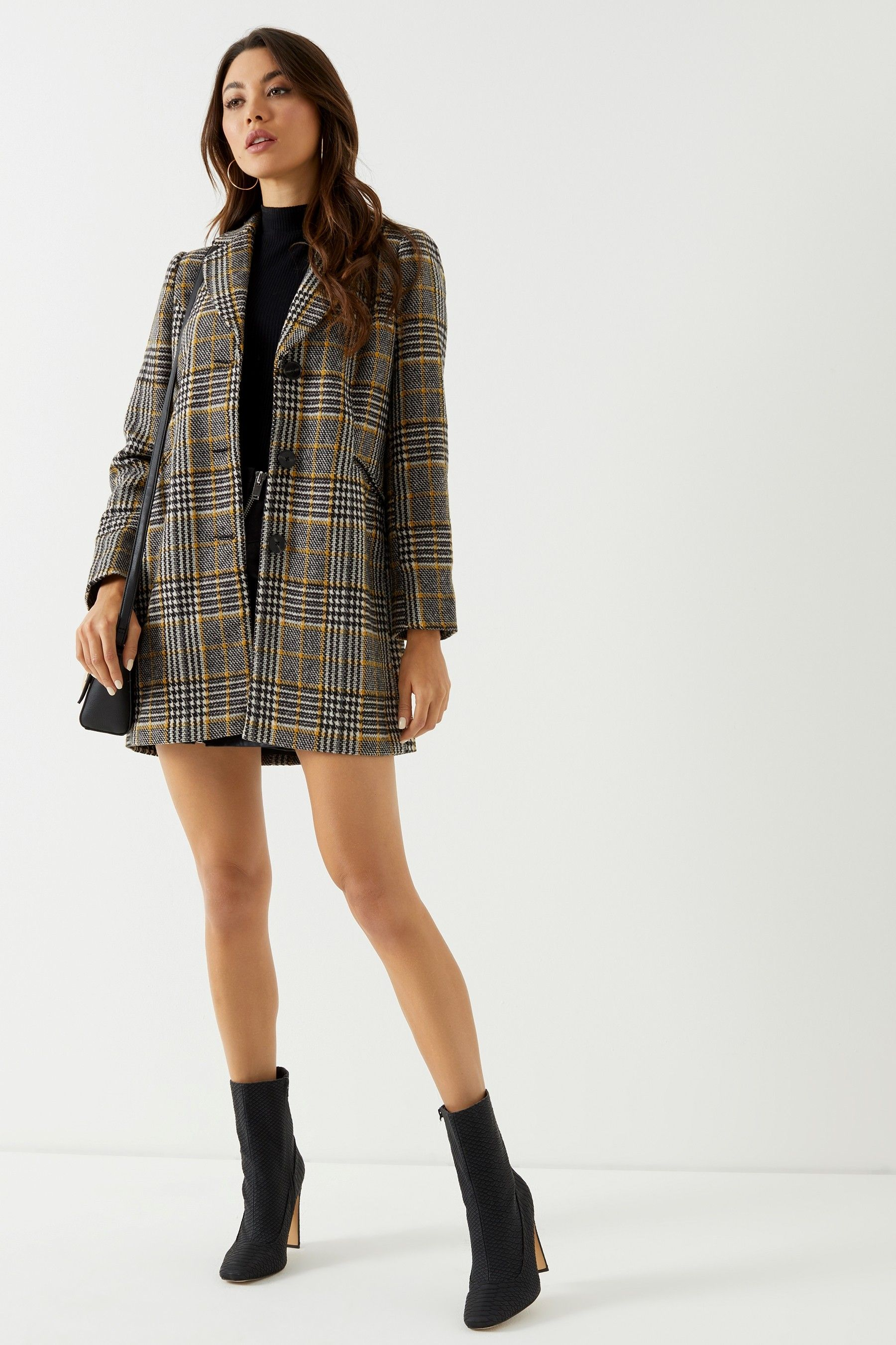 b6a80fb43beb Buy Vero Moda Petite Check Wool Jacket from the Next UK online shop ...