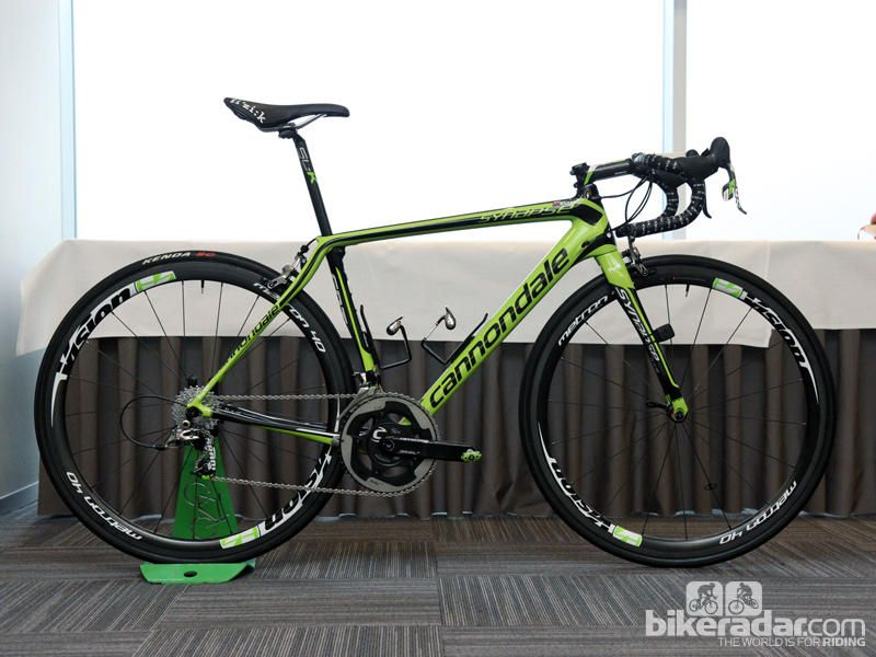 Gallery: Pro bike: Peter Sagan's Cannondale Synapse Hi-Mod Review - Peter Sagan (Cannondale Pro Cycling) is on a rather extreme custom Synapse Hi-Mod for Ronde van Vlaanderen and Paris-Roubaix, built with the length of a 58cm frame but the height of a 51cm one