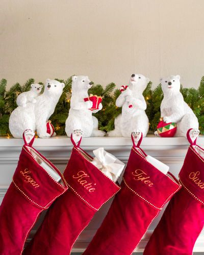 Polar Bear Family Christmas Stocking Holder Balsam Hill Christmas Stocking Holders Family Christmas Stockings Stocking Holders