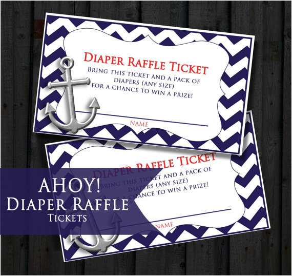 Diaper Raffle Tickets Ahoy Itu0027s A Boy Nautical Themed Itu0027s A Boy Chevron Baby  Shower With