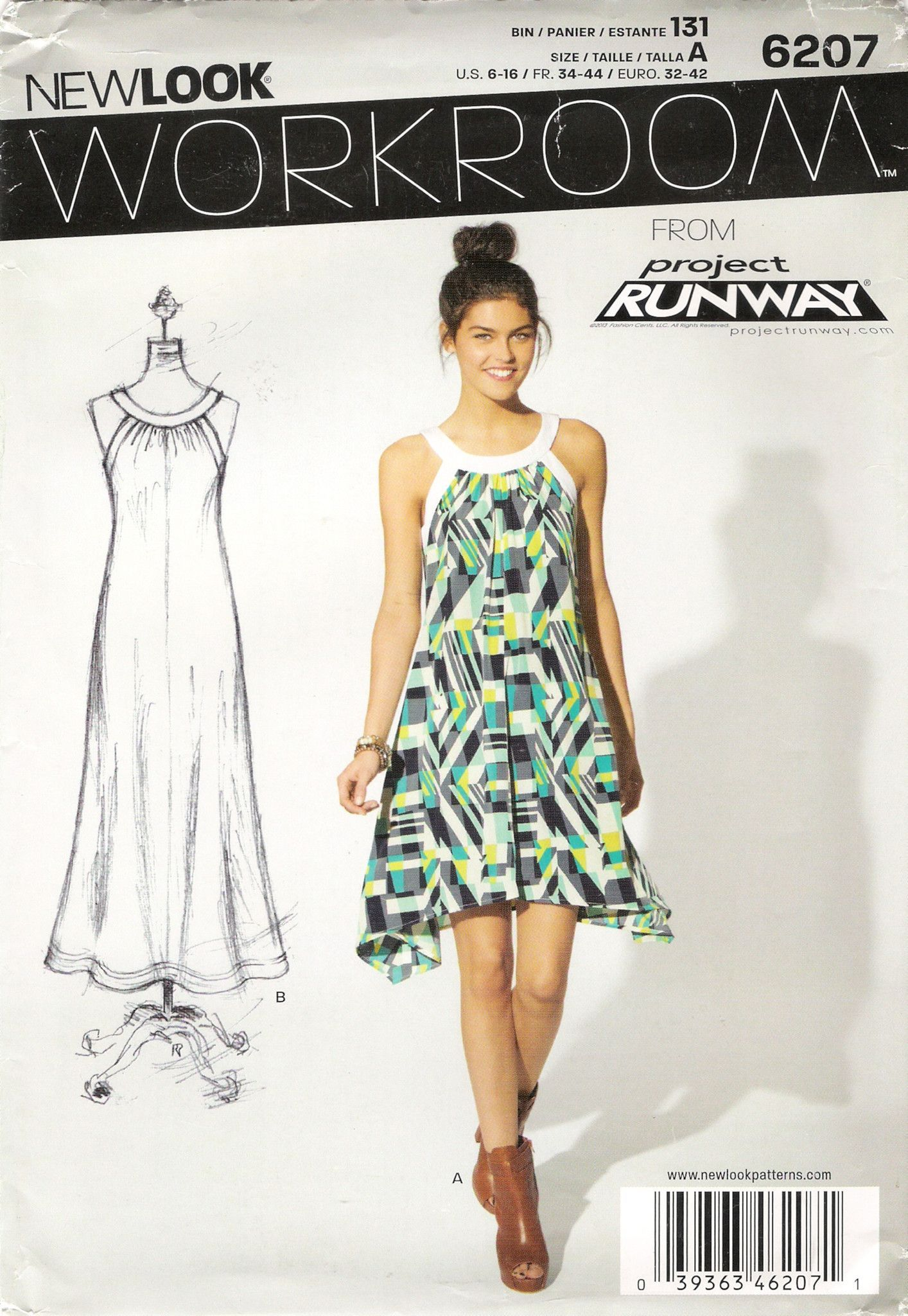 New look missesu six sizes in one dress sewing patterns