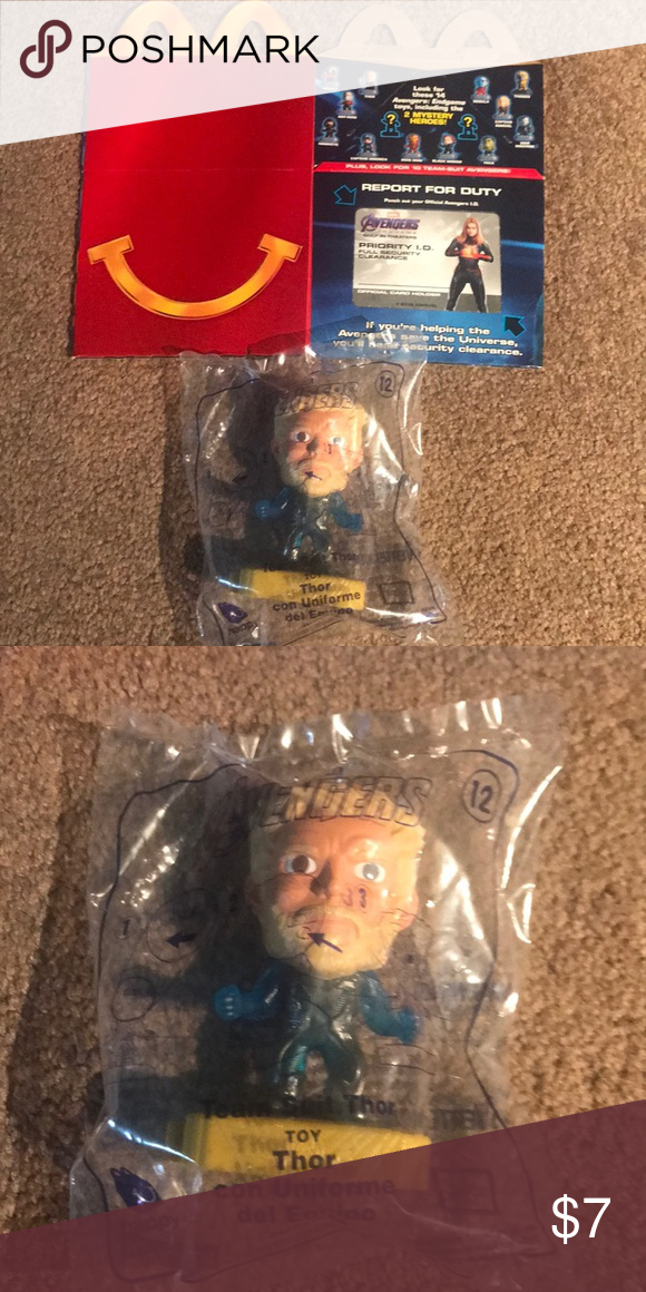 McDonald's toy 12 Marvel Avengers Team Suit Thor. New in