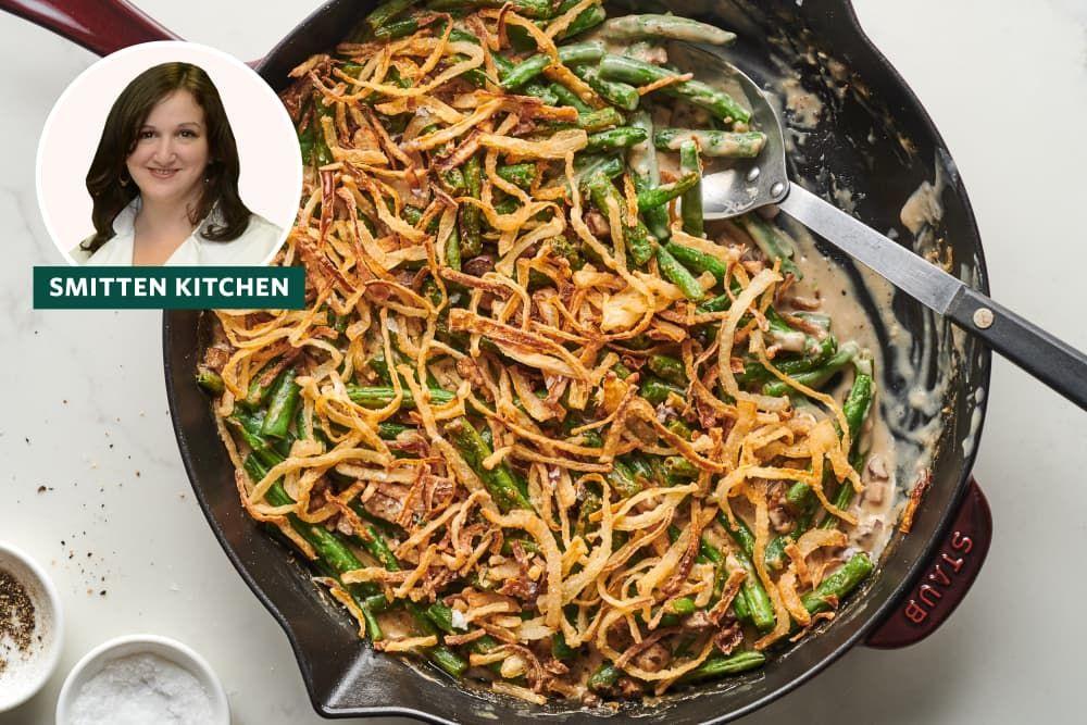 Smitten Kitchen S Green Bean Casserole Is Worth The Extra Step Green Bean Casserole Greenbean Casserole Recipe Green Beans