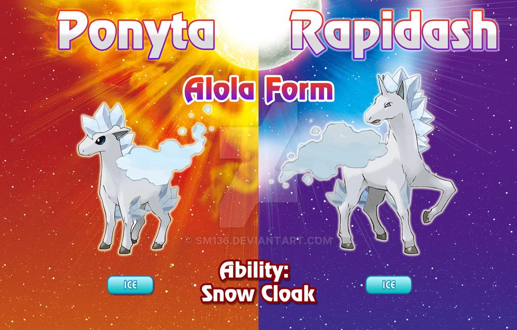 Ponyta And Rapidash Alola Forms By Sm136 Mew And Mewtwo Pokemon Species Pokemon