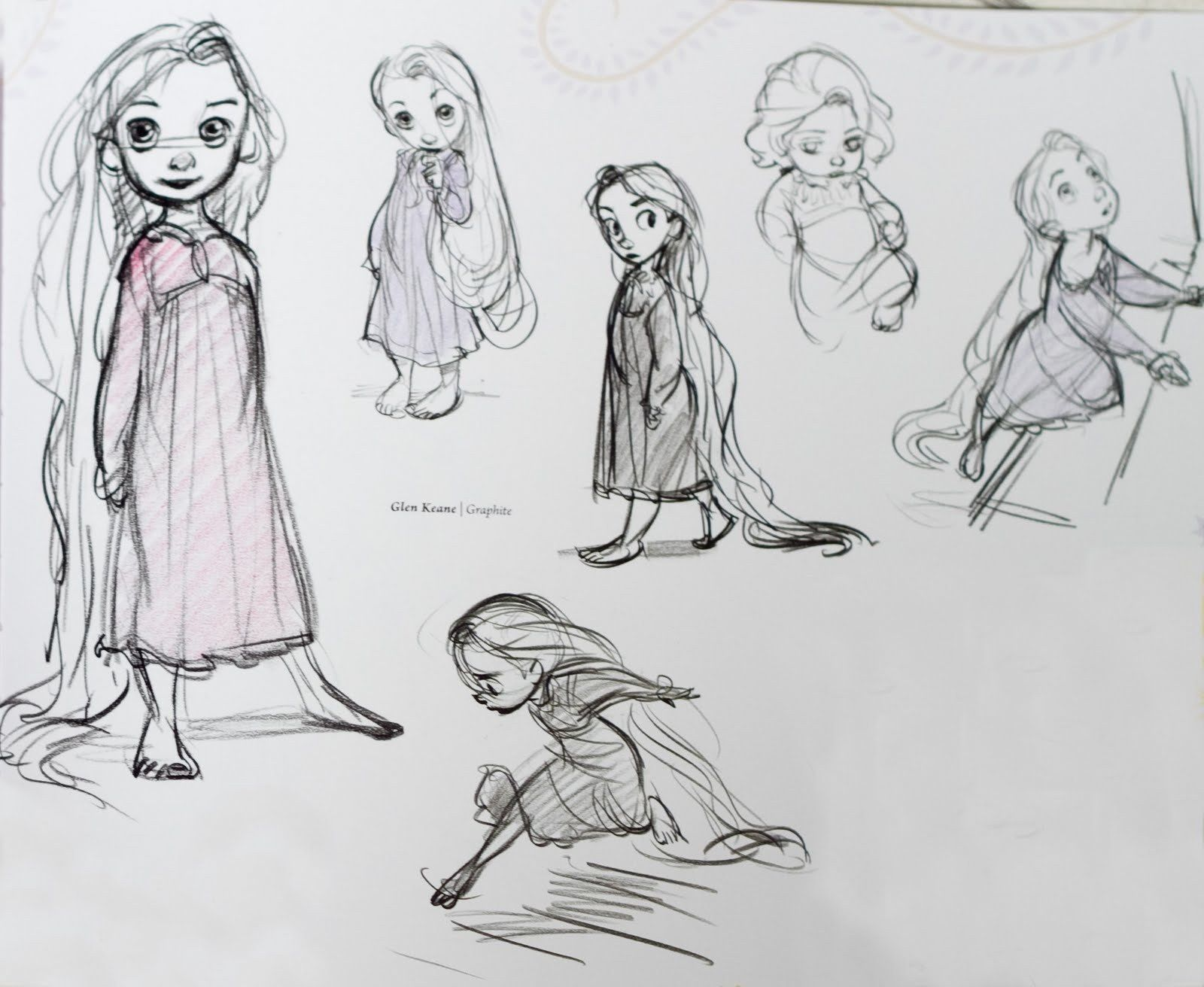 Disney Character Design Artists : Little rapunzel concept art disney princess