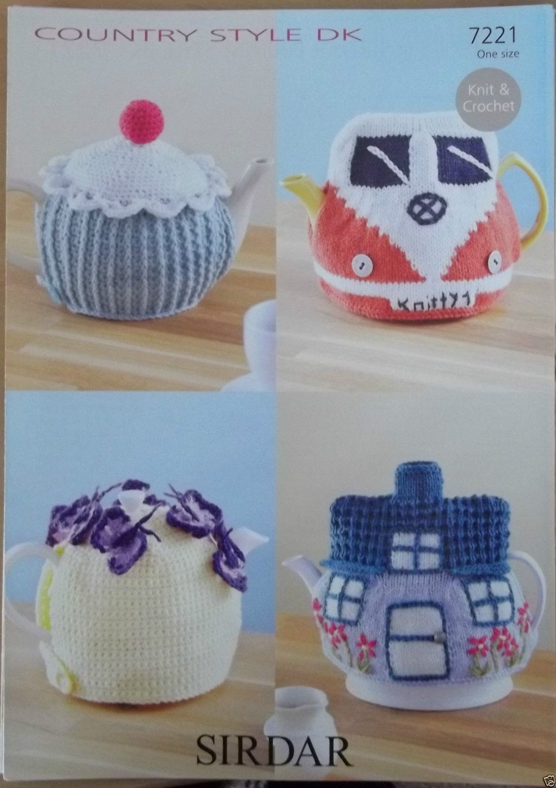 Tea cosy knitting pattern cottage camper van /crochet cupcake ...