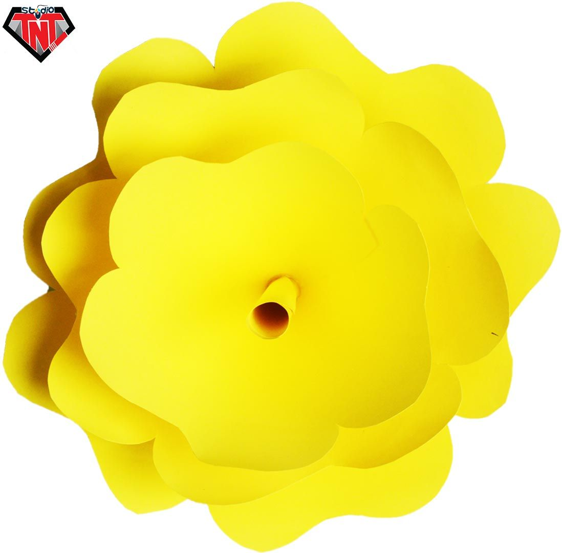 DIY Wall Hanging Craft  Easy To Make Giant Paper Flower  Big