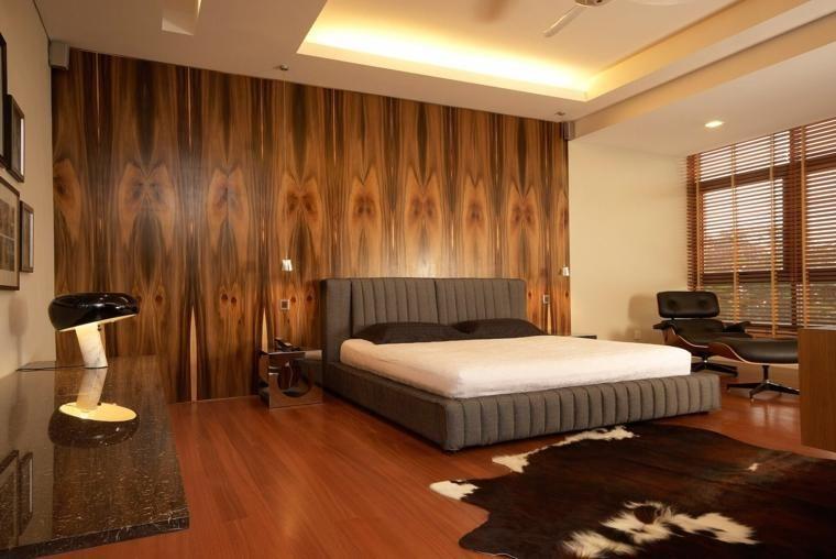 Wände mit Holz für Schlafzimmer Haus