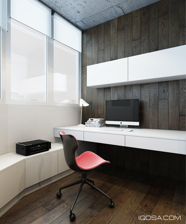 Entwerfen Sie eine schicke moderne Raum um einen Ziegelstein Akzent ...