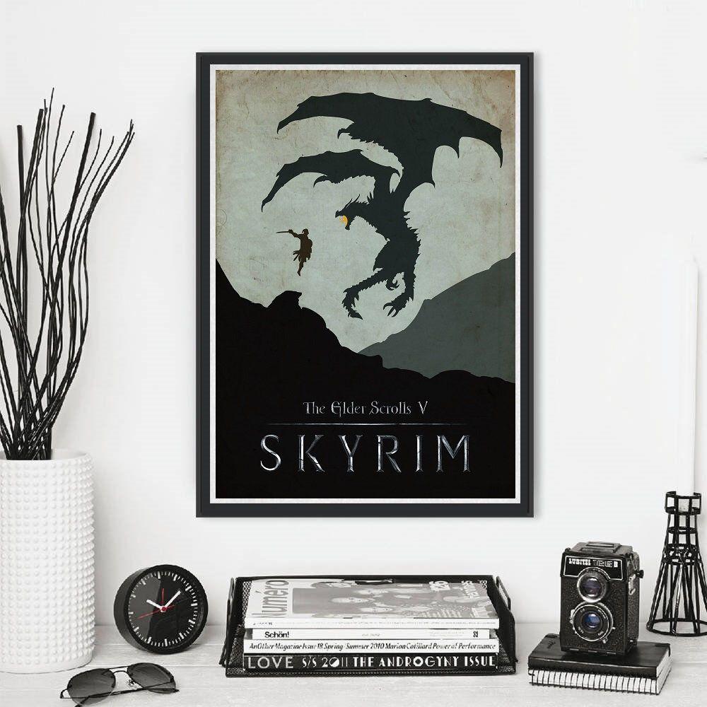 A4 A3 A2 A1 A0| The Elder Scrolls Skyrim Game Poster Print T795