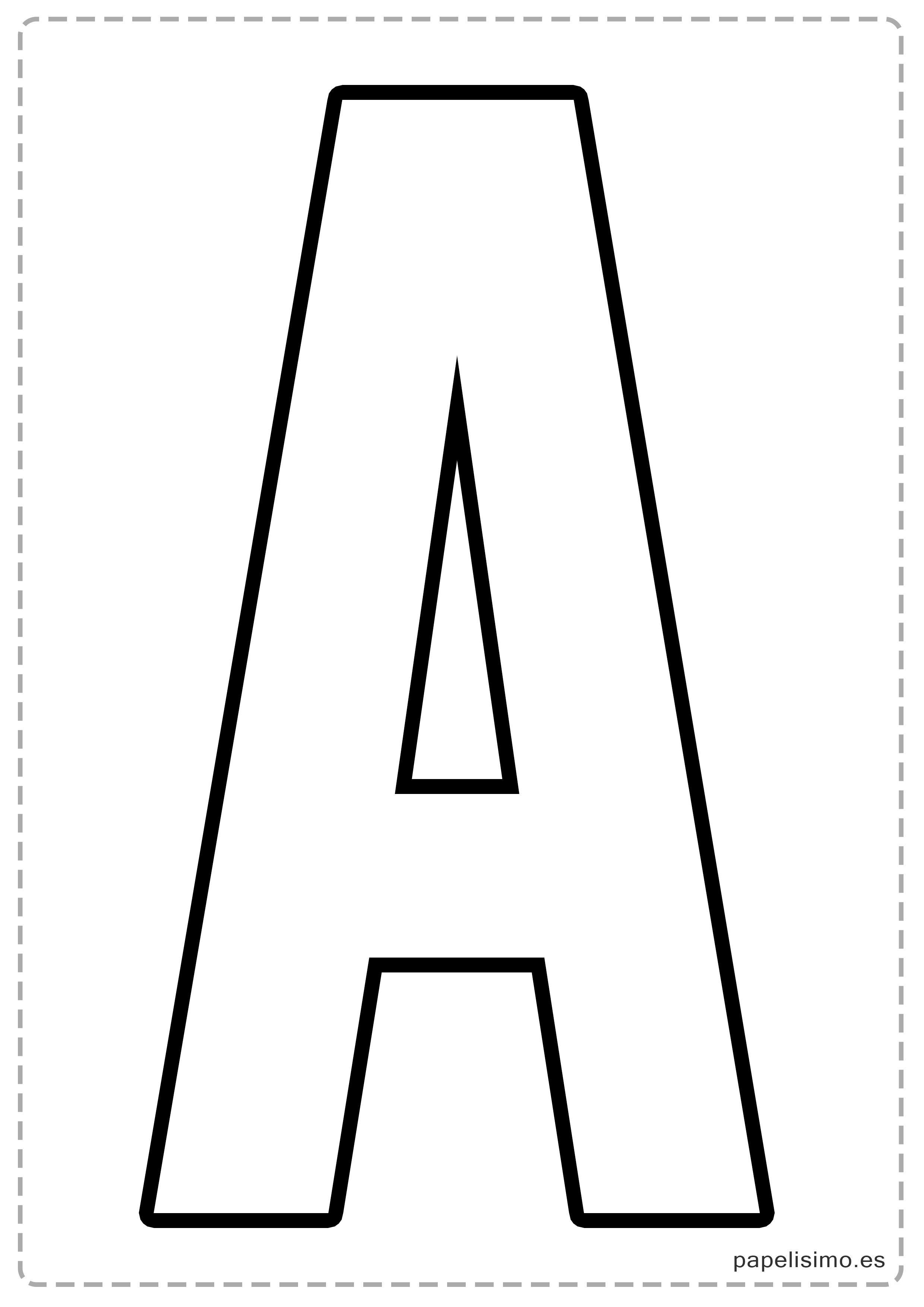 A letras para recortar y pegar guirnalda feliz cumplea os for Plantillas letras grandes