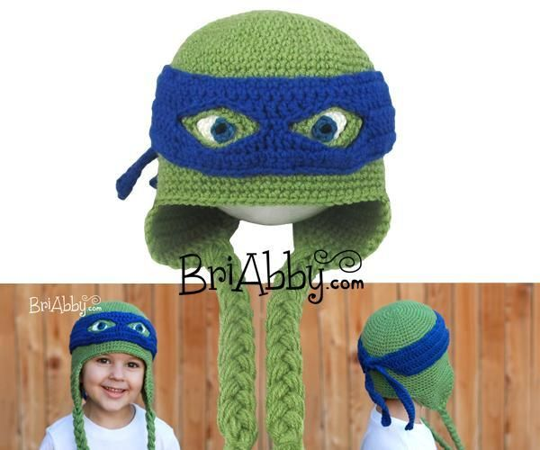 Masked Turtle Hat ... by BriAbby | Crocheting Pattern - Looking for your next project? You're going to love Masked Turtle Hat Pattern by designer BriAbby. - via @Craftsy