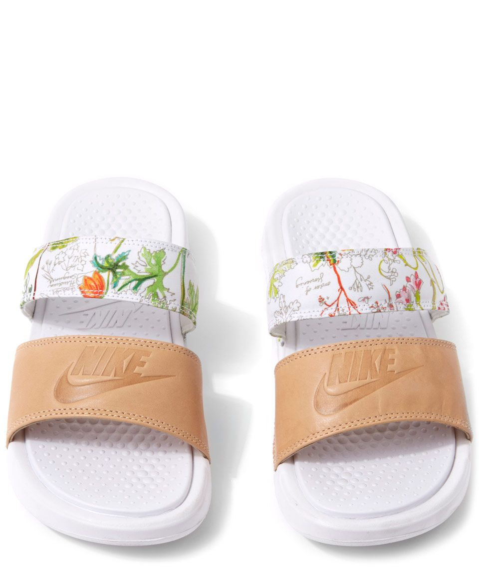 697a955fd714 Nike x Liberty White Liberty Print Benassi Duo Ultra Pool Slides ...
