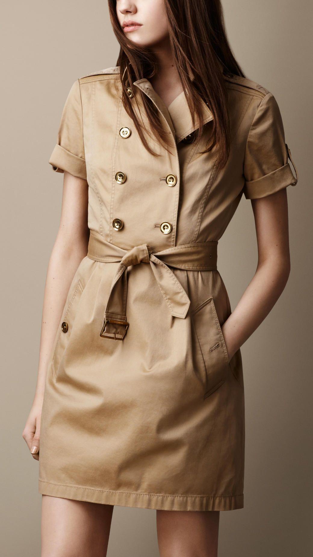 Robe trench en sergé de coton   Burberry   Dress   Pinterest   Robe ... d2cb0c6575f