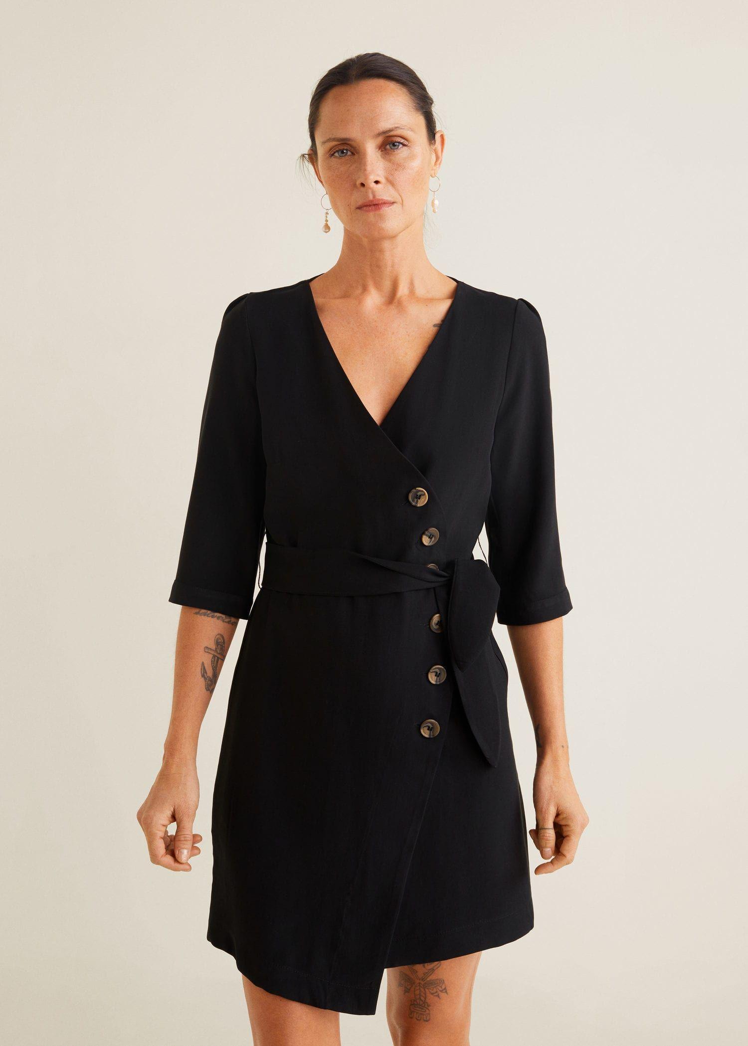 1acc1373f5 Buttoned wrap dress - Women in 2019 | actually want | Wrap dress ...