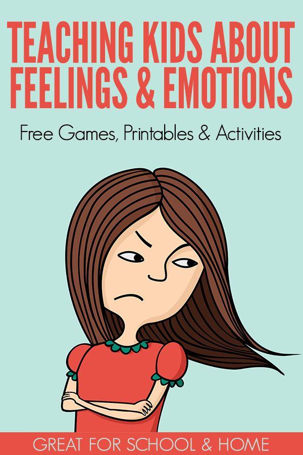 Teaching Kids about Feelings and Emotions: Best Free Games and Activities #feelings #elementaryteacher #iteachtoo
