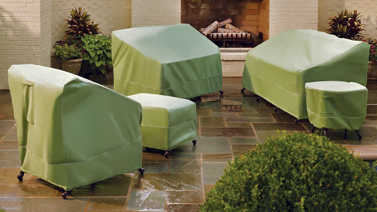 Best Outdoor Furniture Covers Collection In Green Patio Furniture