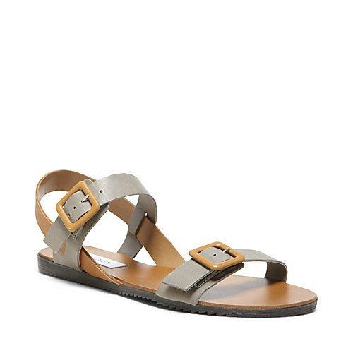 39204b705c9 GILIANN GREY MULTI women s sandal flat ankle strap - Steve Madden ...