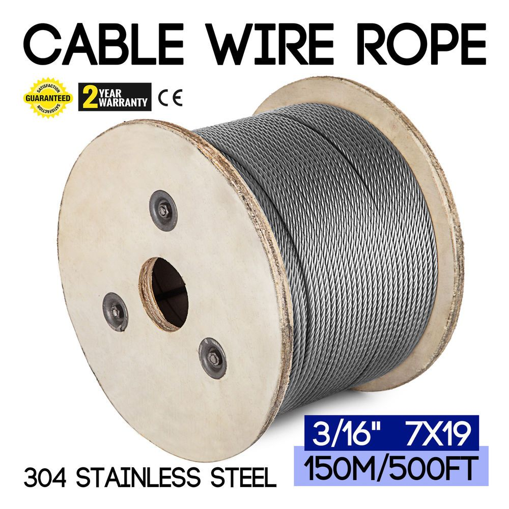 T-304 Grade 7 x 19 Stainless Steel Cable Wire Rope 3/16\
