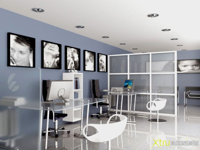 Dise o interior oficina telef nica my future office for Interiores de oficinas pequenas