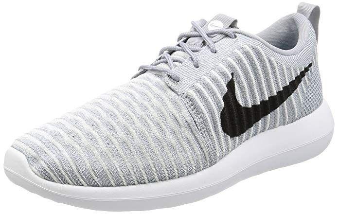6bc080f40c003 New Men s Nike Roshe Two Flyknit Shoe Size 11.5 Wolf Grey Black ...